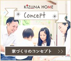 KIZUNAHOME Concept 家づくりのコンセプト